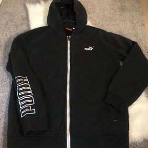 Puma black zip up